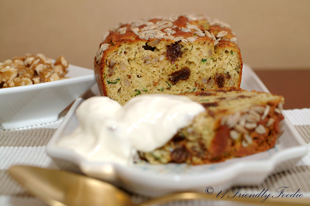 Low Carb Zucchini And Raisin Loaf