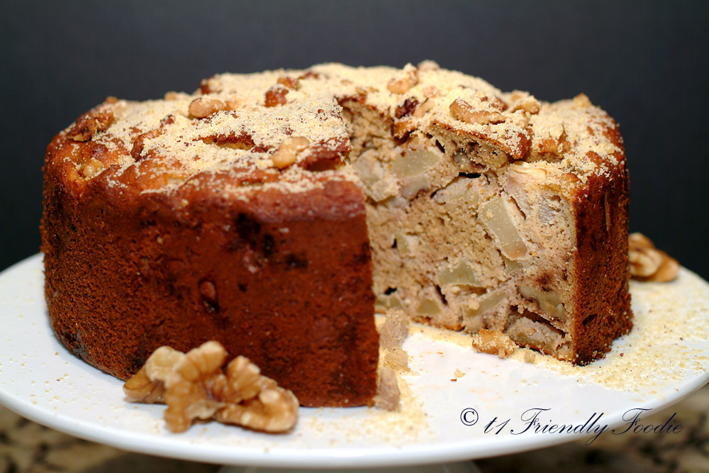Diabetic friendly French apple cake