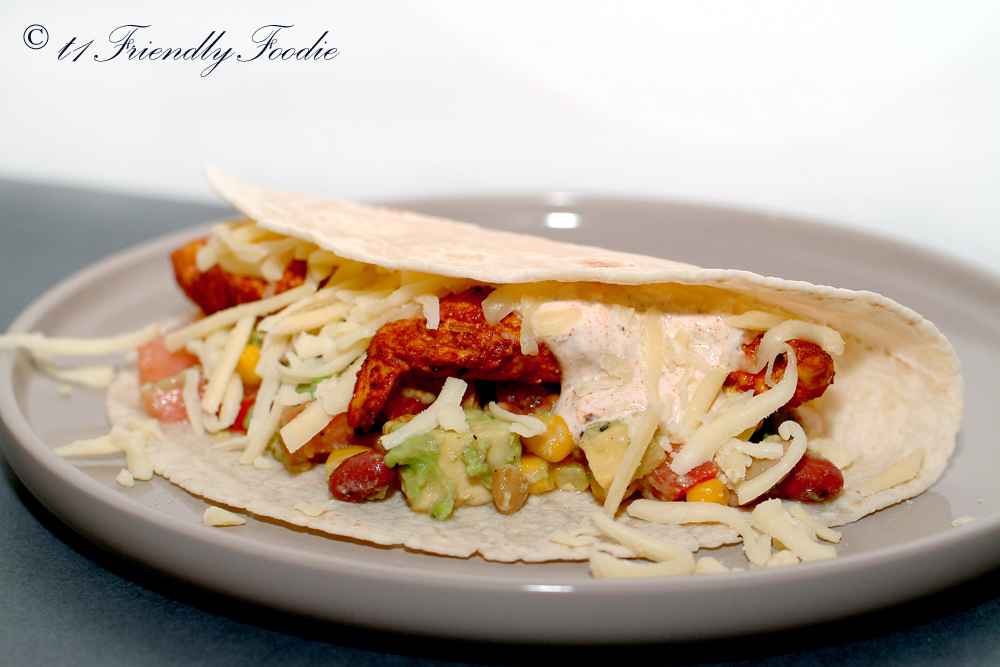 Low carb Mexican chicken wraps